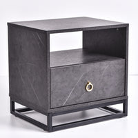 Rylan Bedside Table, Grey Stone