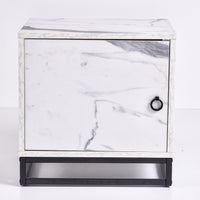 Navara Bedside Table, Marble