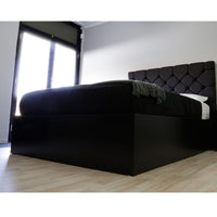 MG 4 drawers storage platform Bed, black