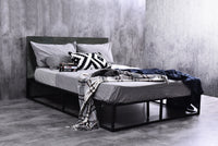 Nesko platform bed, grey stone