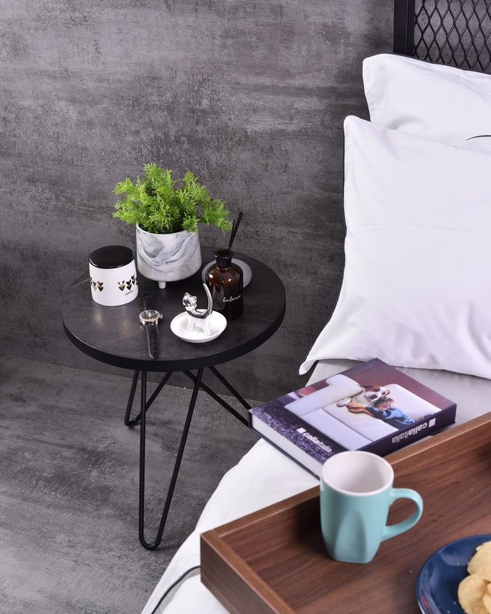 Samson Side Table, Grey Stone