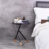 Ent Side Table, Grey Stone