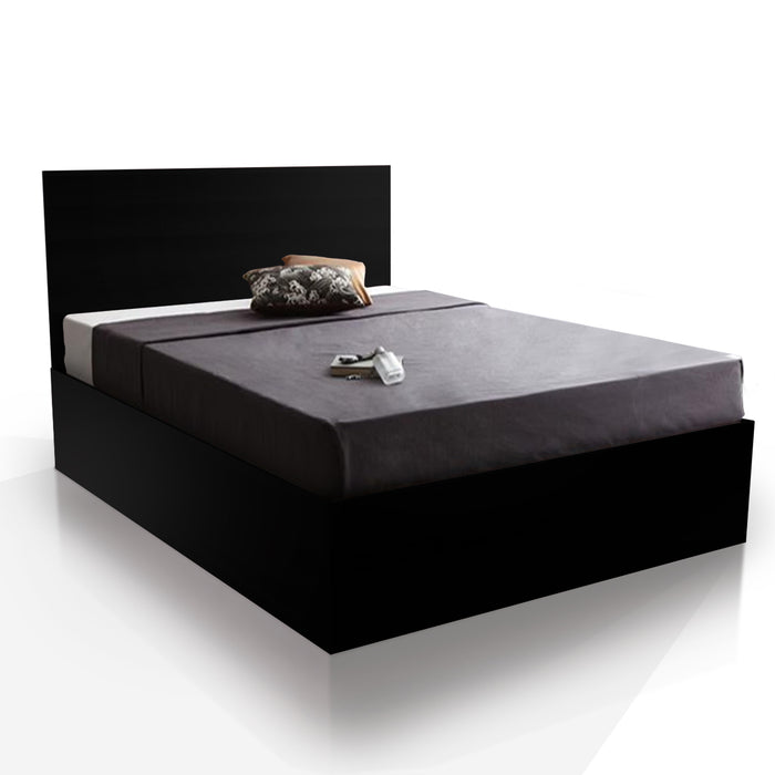 Soba 4 drawers storage platform Bed, Black