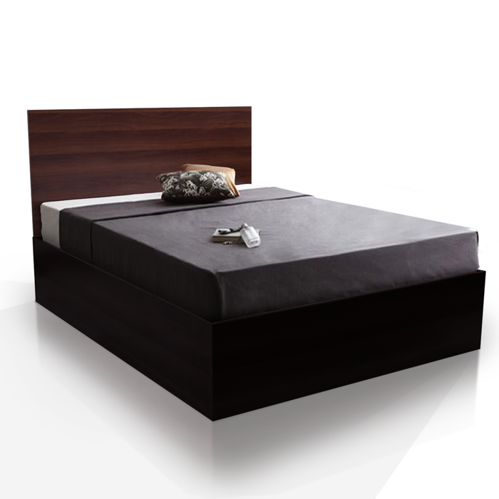 Soba 4 drawers storage platform Bed, walnut