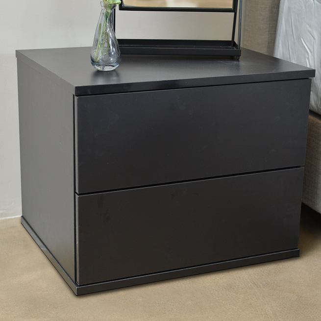 Jupiter bedside table, black