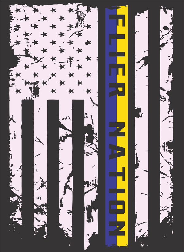 Phaze 1 T-Shirt Design, Clyde Fliers, Flyer Nation, American Flag