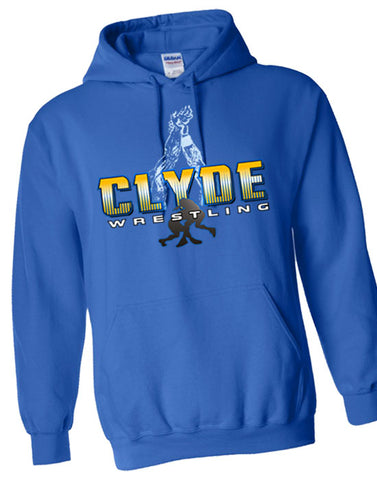 D | Hooded Sweatshirt | Clyde Fliers Wrestling