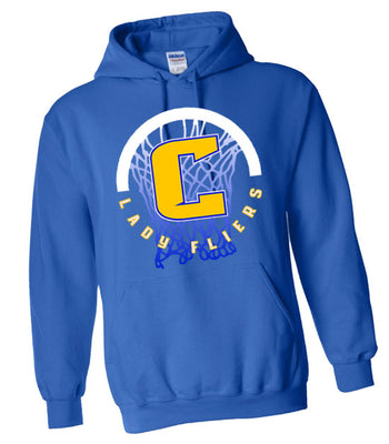D | Hooded Sweatshirt | Clyde Girls Basketball