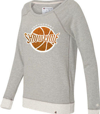 K | Ladies Crew Sweatshirt w/ Glitter | Showtime Basketball