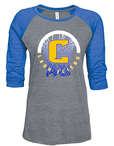 Q | Ladies 3/4 Sleeve Shirt | Clyde Girls Basketball