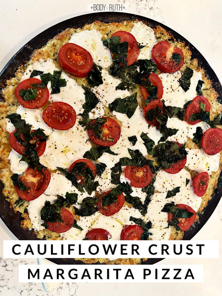 Cauliflower Crust Margarita Pizza