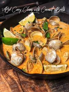 Red Curry Clams with Coconut Broth