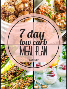 1 week Low Carb Meal Plan