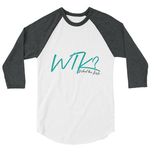 Share your love for Kale and your sense of humor with our What the Kale Raglan Tee.   funny tee, inspirational tee
