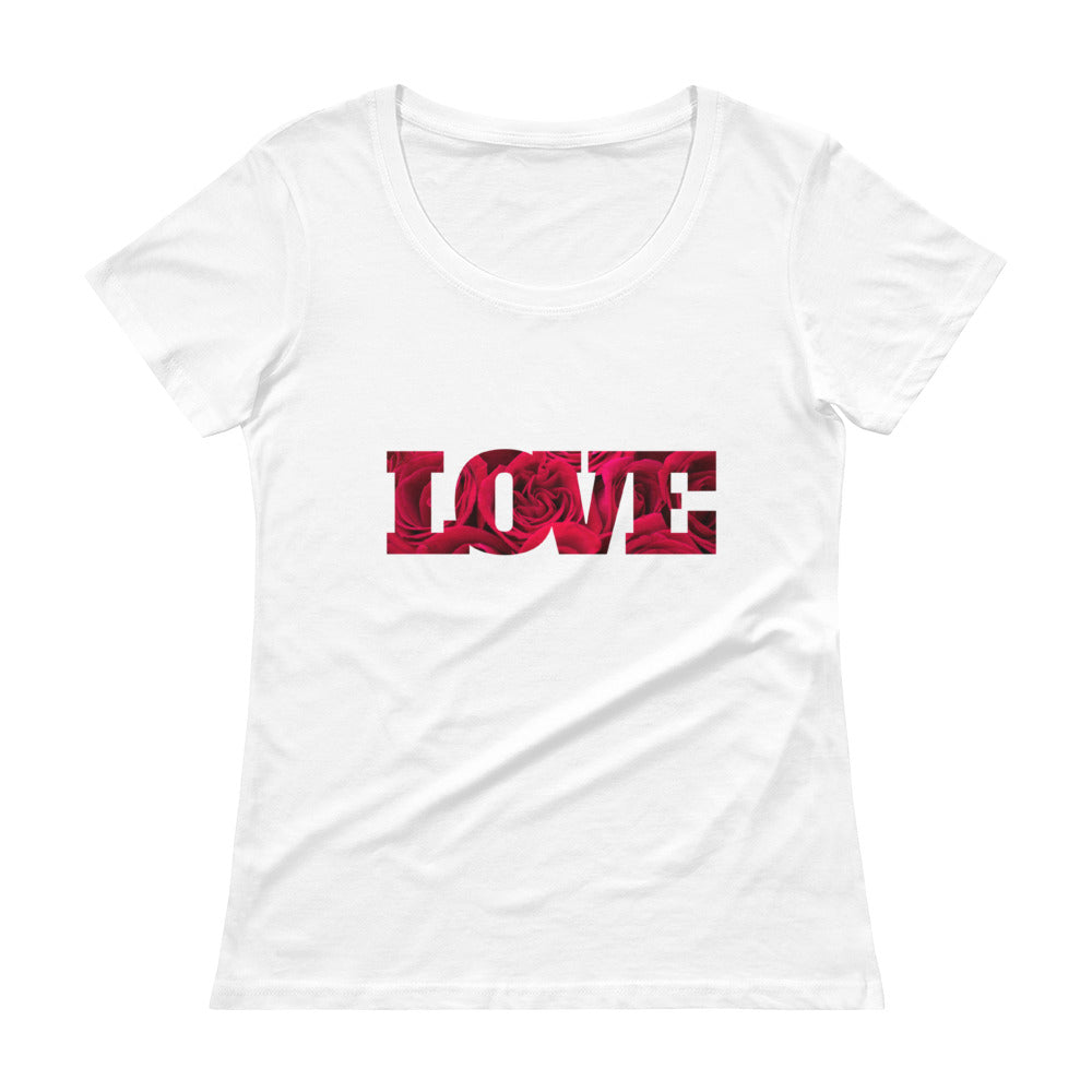 Love with Roses Ladies' Scoopneck T-Shirt