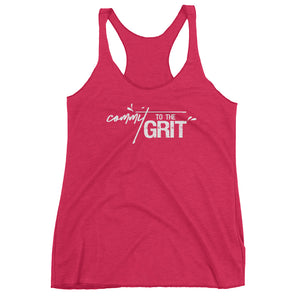 Women's Racerback Tank - Commit to the Grit B