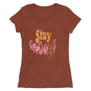 Stay Groovy Ladies' short sleeve t-shirt