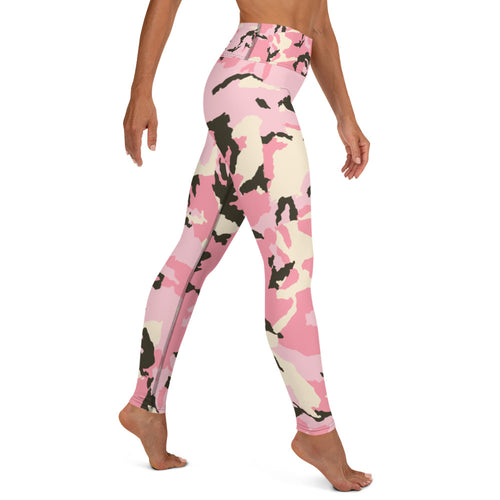 Yoga Leggings in Pink Camo