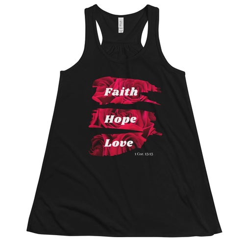 Faith Hope Love Women's Flowy Racerback Tank