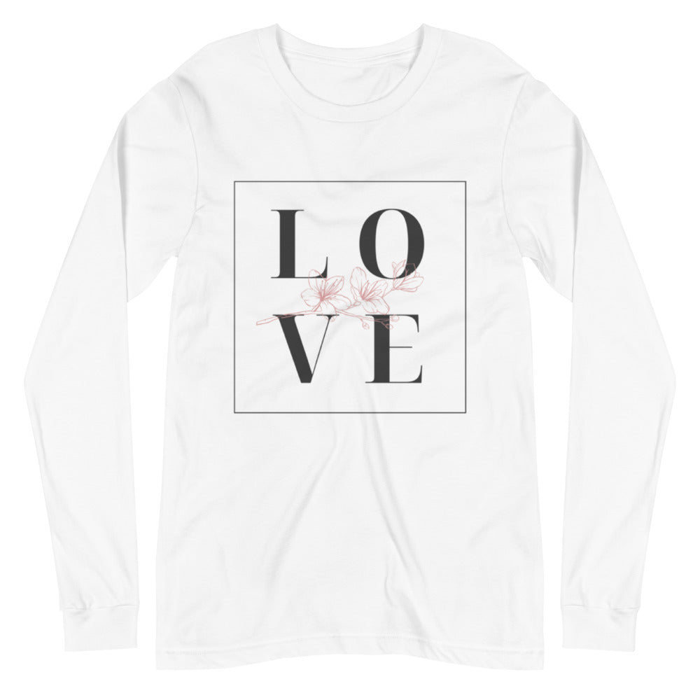 L-O-V E  Long Sleeve Tee in Square