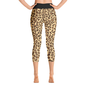 Leopard Yoga Capri Leggings