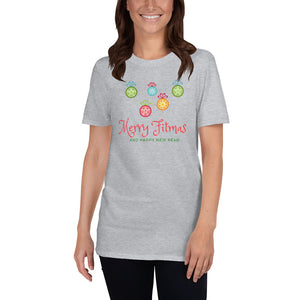 Merry Fitmas and Happy New Rear Short-Sleeve Unisex T-Shirt