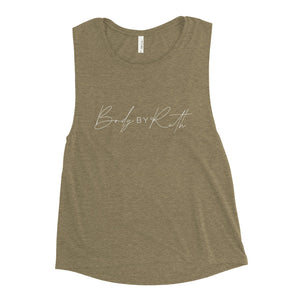 Body By Ruth handwriting Ladies' Muscle Tank