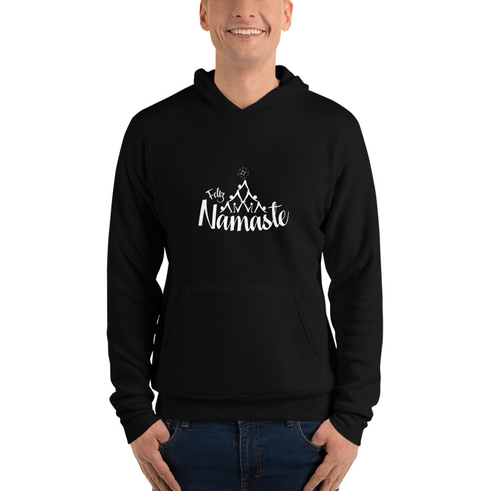 Feliz Namaste with Christmas Tree Unisex hoodie