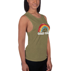 Good Vibes Ladies' Muscle Tank
