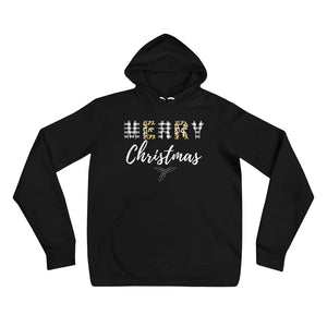 Merry Christmas Plaid and Leopard Unisex hoodie
