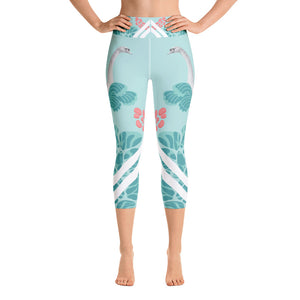 Swan Yoga Capri Leggings