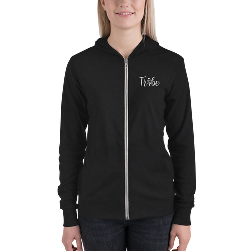 Tribe  Zip Hoodie with Body By Ruth Logo on Back (Lightweight)