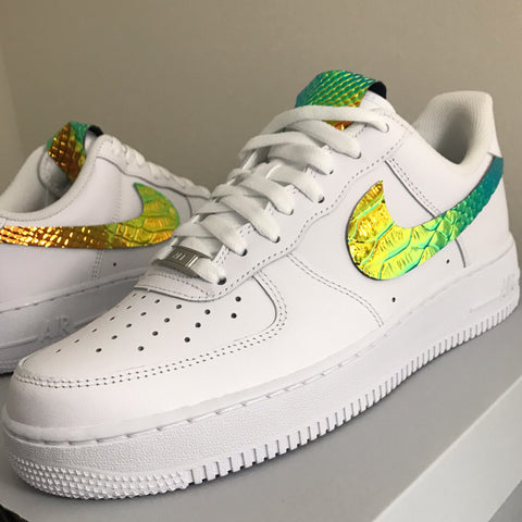 """CHROME CROC GREEN-ORANGE"" AF1 LOW"