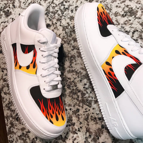 """HOT ROD"" AF1 LOW WHITE"