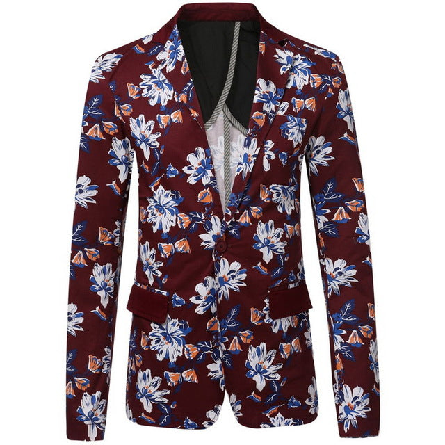 Slim Fit Long Sleeve Blazer