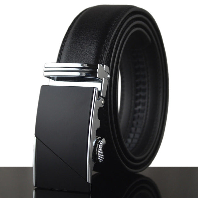 Solid Strap Automatic Buckle Belt