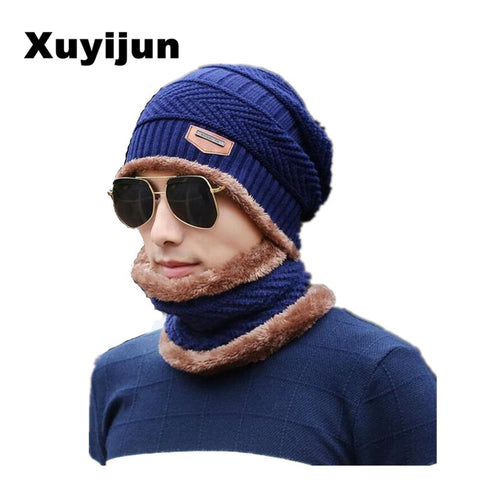 Warm Knitted Hat Scarf c
