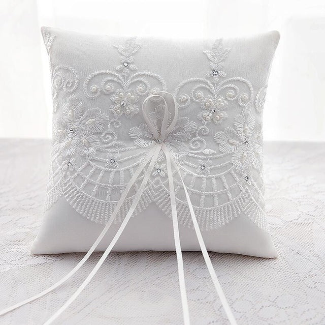 Royal Lace Wedding Ring Pillow