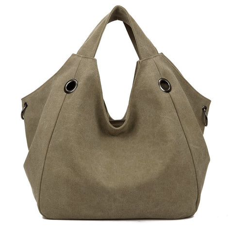 Copy of High Quality Canvas Women Handbag Casual Large Capacity Hobos Bag Hot Sell Female Totes Bolsas Trapeze Ruched Solid Shoulder Bag