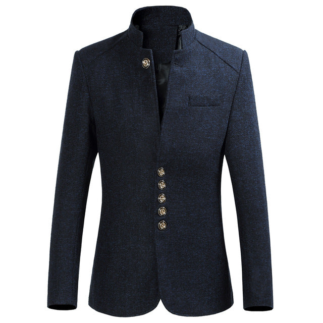 Stand Collar Male Blazer