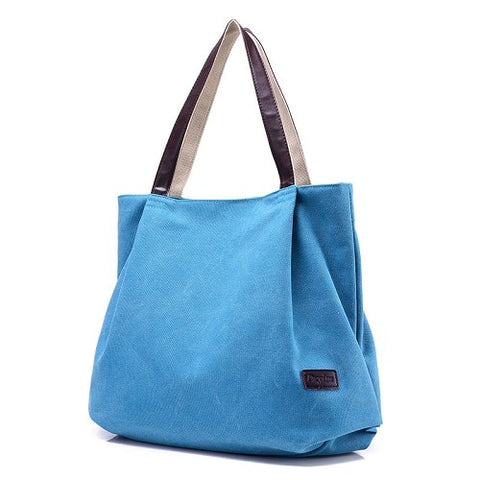 Women Daily Canvas Shoulder Bags Big Size Vintage Travel Tote Large Capacity Women Handbag Solid Casual Multifunctional Bolsos