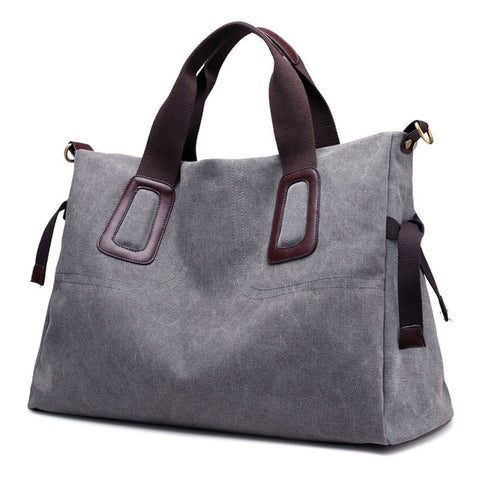 2018 New Women's Canvas Handbags High Quality Female Hobos Single Shoulder Bags Vintage Solid Multi-pocket Ladies Totes Bolsas