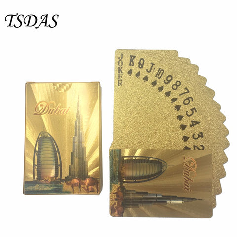 High Quality 24k Gold Poker Card