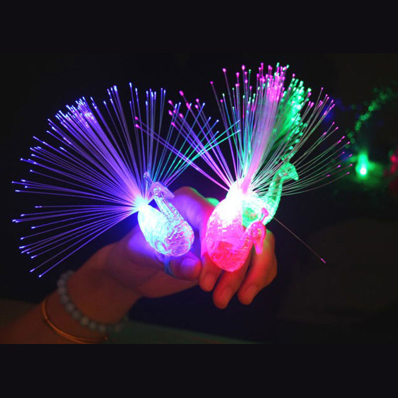 LED Peacock Finger Light Ring