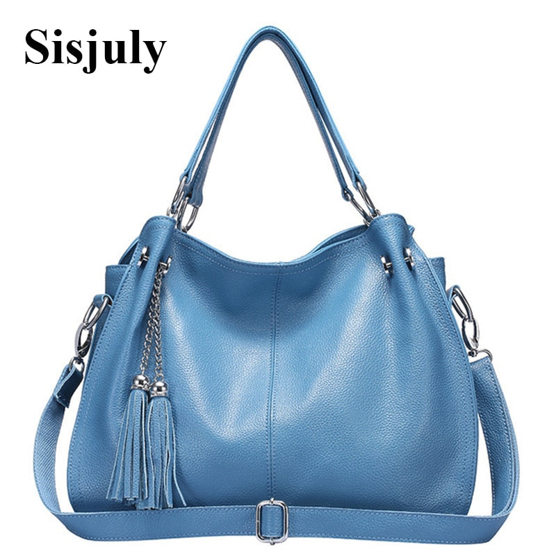 2018 New Genuine Leather Bag Women Handbags Tassel Crossbody Bags For Women  Shoulder Bag Female Casual Tote Famous Brands Sac 1b54bce875