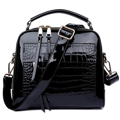 FLYONE Bag Brand Women Handbags Crocodile Leather Fashion Shopper Tote Bag Female Luxury Shoulder Bags Handbag Bolsa Feminina