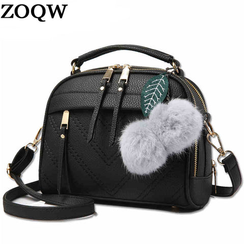women messenger bags new spring/summer 2018 inclined shoulder bag women's leather handbags Bag ladies hand bags LX451