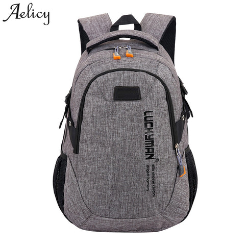 Aelicy Luxury Fashion Canvas Travel Bag Backpack Casual Waterproof Laptop Backpacks Men Women Fashion Travel Mochila Masculina