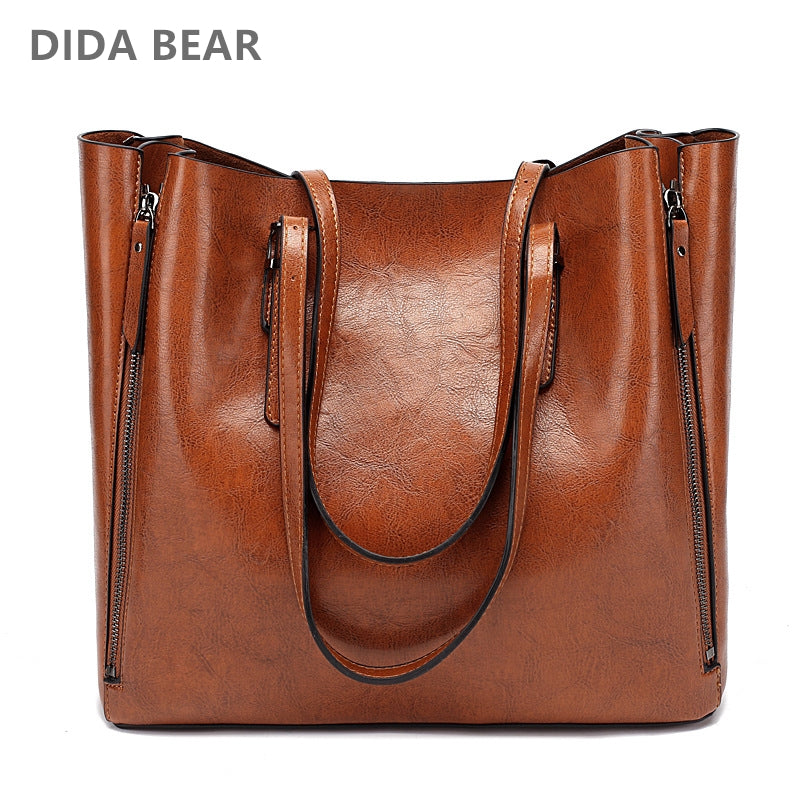 161ae83ff5 DIDA BEAR New Fashion Luxury Handbag Women Large Tote Bag Female Bucket Shoulder  Bags Lady Leather Messenger Bag Shopping Bag
