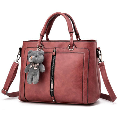 21club brand medium large capacity ladies totes zipper bear strap thread shopping office women crossbody shoulder bag handbags